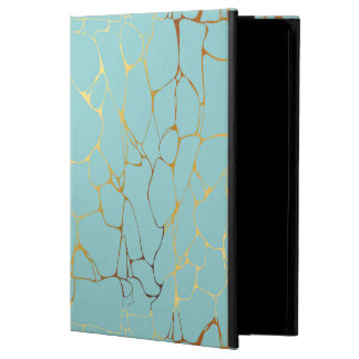 mint,gold,marbled,modern,trendy,chic,beautiful,ele iPad air cover