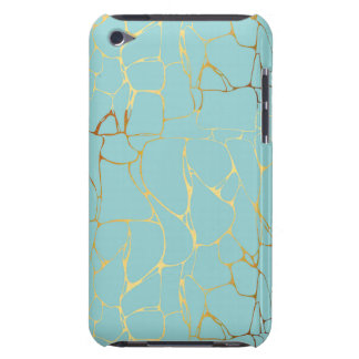 mint,gold,marbled,modern,trendy,chic,beautiful,ele iPod touch covers