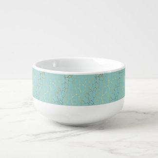 mint,gold,marbled,modern,trendy,chic,beautiful,ele soup mug
