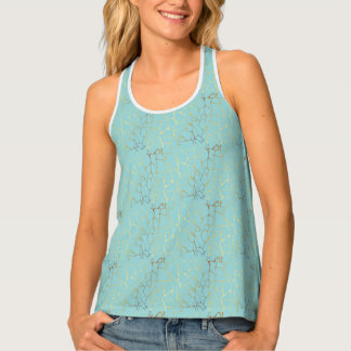 mint,gold,marbled,modern,trendy,chic,beautiful,ele tank top