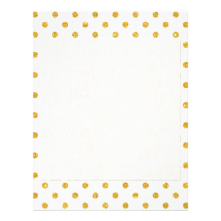 Mint,gold polka dot,trendy,girly,pattern,cute,fun, letterhead