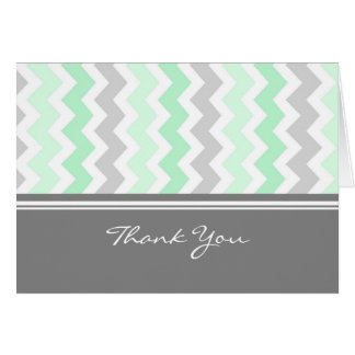 Mint Gray Baby Shower Hostess Thank You Card