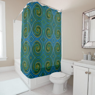 Mint Green Abstract Swirl Pattern