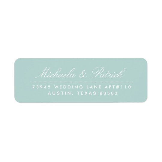 Mint Green Address Labels