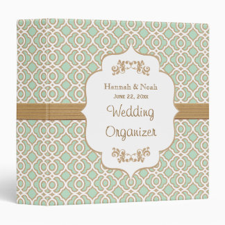 Mint Green and Gold Moroccan Wedding Planner Binders