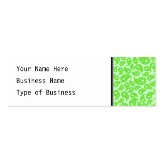 Mint Green and Lime Green Paisley. Mini Business Card