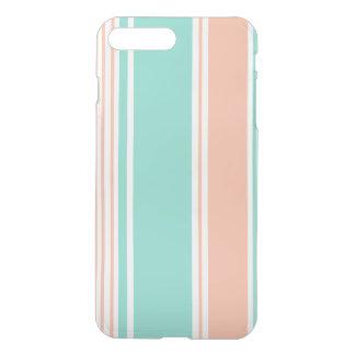 Mint Green and Peach Modern Stripes iPhone 7 Plus Case