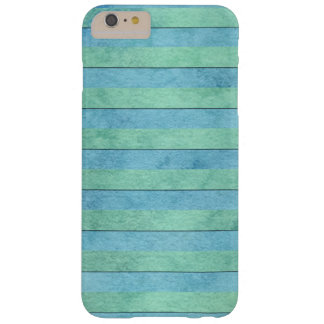 Mint Green and Turquoise Watercolor Art Stripes Barely There iPhone 6 Plus Case
