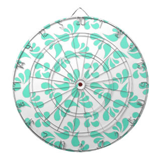 Mint Green And White Graphic Art Pattern Dartboards