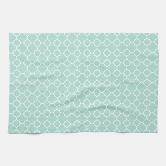 Mint Green and White Kitchen Towel