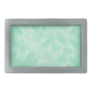 Mint Green and White Mottled Rectangular Belt Buckle