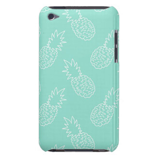 Mint Green and White Pineapple Pattern Barely There iPod Case