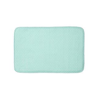 Mint Green and White Polka Dot Bath Mat