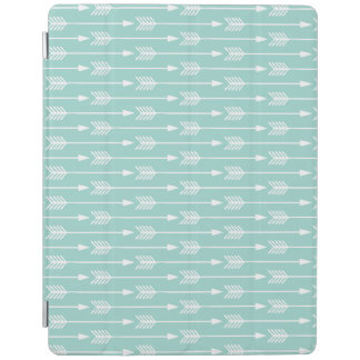 Mint Green Arrows Pattern iPad Cover