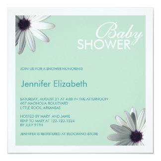 Mint Green Baby Shower Invitation