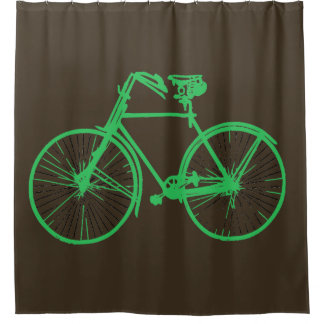 mint green bike bicycle 🚵 Shower curtain