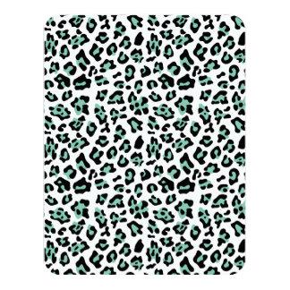 Mint Green Black Leopard Animal Print Pattern Announcement