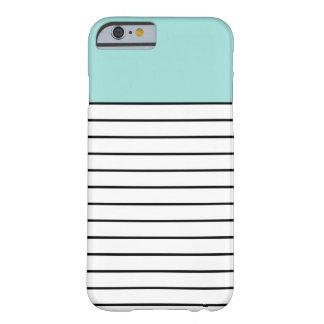 Mint Green Black Stripes iPhone 6 Case