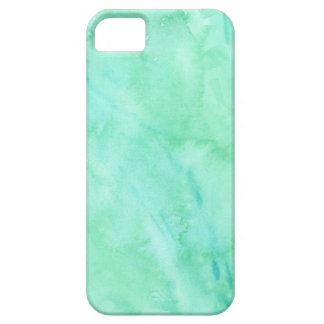 Mint Green Blue Watercolor Texture Pattern iPhone 5 Covers