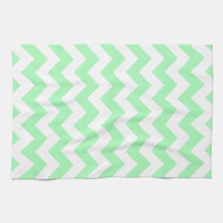 Mint Green Chevron Kitchen Towel