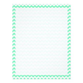 Mint Green Chevron Letterhead Template