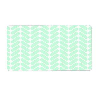Mint Green Chevron Pattern, like Knitting.