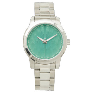 Mint Green Circular Pattern Watch