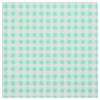 Mint Green Classic Gingham Rotated Checked Pattern Fabric