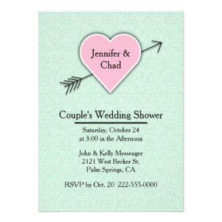 Mint Green Couple s Wedding Shower Invitation