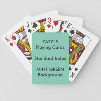 MINT GREEN Custom STANDARD INDEX Playing Cards