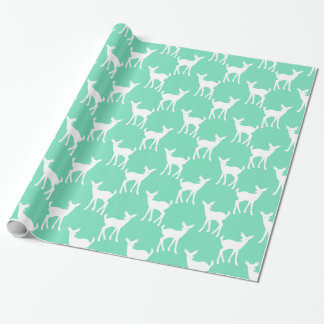 Mint Green Deer Pattern