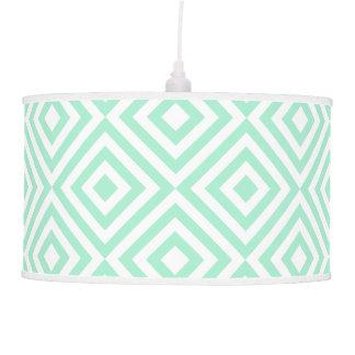 Mint green diamond pattern hanging lamps