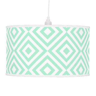 Mint green diamond pattern pendant lamp