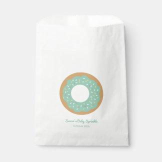 Mint Green Donut Baby Sprinkle Favor Favour Bag