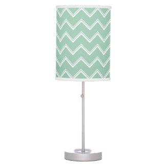 Mint Green Double Chevron Pattern Table Lamp