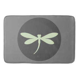 Mint Green Dragonfly Bath Mat