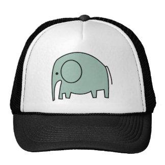 MINT GREEN ELEPHANTS TRUCKER HAT