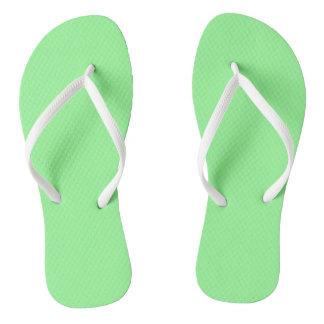 Mint Green Flip Flops