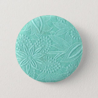 Mint Green Floral 2 Inch Round Button