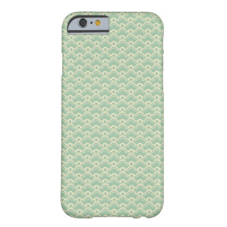 Mint green floral abstract girly art deco pattern barely there iPhone 6 case