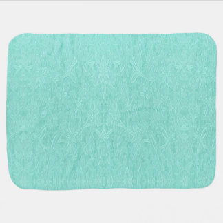 Mint Green Floral Baby Blanket