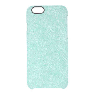 Mint Green Floral Clear iPhone 6/6S Case