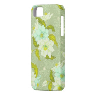 Mint Green Floral iPhone 5 Cover