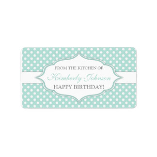 Mint green From The Kitchen Of gift tag labels