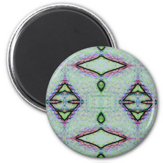 Mint Green Geometric Pattern 2 Inch Round Magnet