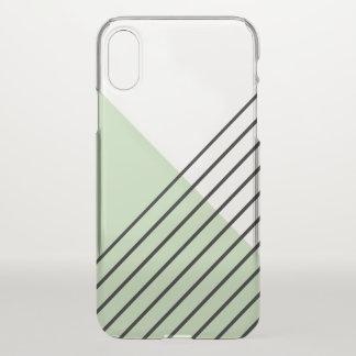 Mint Green Geometric Pattern iPhone X Case