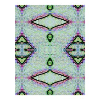 Mint Green Geometric Pattern Letterhead Template