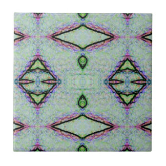 Mint Green Geometric Pattern Tile