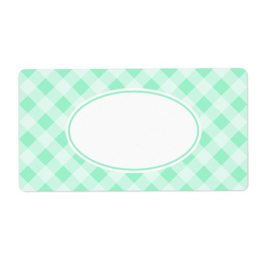 Mint Green Gingham Labels