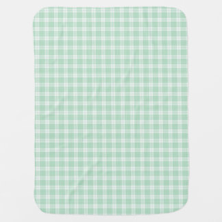 Mint Green Gingham Plaid Baby Blanket